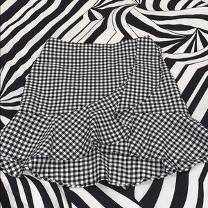 H&M checkered skirt